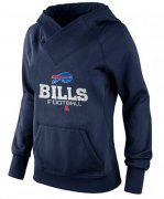 Wholesale Cheap Women's Buffalo Bills Big & Tall Critical Victory Pullover Hoodie Navy Blue
