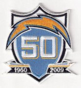 Wholesale Cheap Stitched Los Angeles Chargers 50th Anniversary Jersey Patch