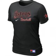 Wholesale Cheap Women's MLB Houston Astros Black Nike Short Sleeve Practice T-Shirt