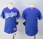 Wholesale Cheap Dodgers Blank Blue Cool Base Stitched Youth MLB Jersey