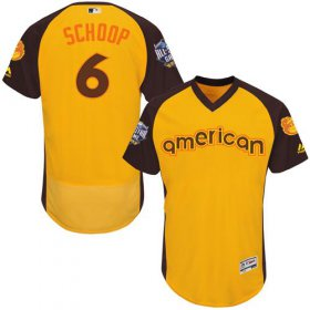 Wholesale Cheap Orioles #6 Jonathan Schoop Gold Flexbase Authentic Collection 2016 All-Star American League Stitched MLB Jersey