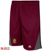 Wholesale Cheap Adidas Spain 2014 World Soccer Performance Shorts Red