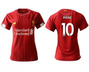 Wholesale Cheap Women's Liverpool #10 Mane Red Home Soccer Club Jersey