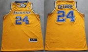 Wholesale Cheap Indiana Pacers #24 Paul George ABA Hardwood Classic Swingman Yellow Jersey