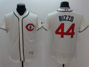 Wholesale Cubs #44 Anthony Rizzo Cream Flexbase Authentic Collection 1929 Turn Back The Clock Stitched Baseball Jersey