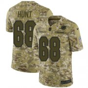 Wholesale Cheap Nike Dolphins #68 Robert Hunt Camo Men's Stitched NFL Limited 2018 Salute To Service Jersey