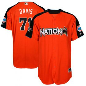 Wholesale Cheap Cubs #71 Wade Davis Orange 2017 All-Star National League Stitched Youth MLB Jersey