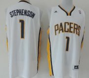Wholesale Cheap Indiana Pacers #1 Lance Stephenson Revolution 30 Swingman White Jersey