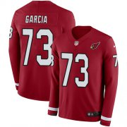 Wholesale Cheap Nike Cardinals #73 Max Garcia Red Team Color Men's Stitched NFL Limited Therma Long Sleeve Jersey