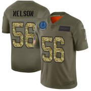 Wholesale Cheap Indianapolis Colts #56 Quenton Nelson Men's Nike 2019 Olive Camo Salute To Service Limited NFL Jersey