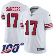 Wholesale Cheap Nike 49ers #17 Emmanuel Sanders White Rush Men's Stitched NFL Limited 100th Season Jersey