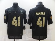 Wholesale Cheap Men's New Orleans Saints #41 Alvin Kamara Black Camo 2020 Salute To Service Stitched NFL Nike Limited Jersey