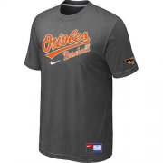 Wholesale Cheap Baltimore Orioles Nike Short Sleeve Practice MLB T-Shirt Crow Grey