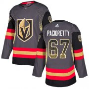 Wholesale Cheap Adidas Golden Knights #67 Max Pacioretty Grey Home Authentic Drift Fashion Stitched NHL Jersey