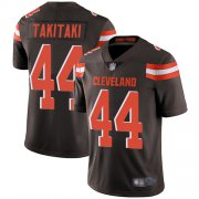 Wholesale Cheap Nike Browns #44 Sione Takitaki Brown Team Color Men's Stitched NFL Vapor Untouchable Limited Jersey