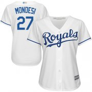 Wholesale Cheap Royals #27 Raul Mondesi White Home Women's Stitched MLB Jersey