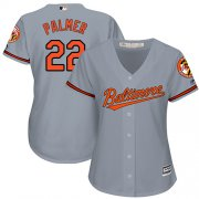 Wholesale Cheap Orioles #22 Jim Palmer Grey Road Women's Stitched MLB Jersey