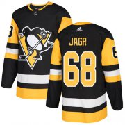 Wholesale Cheap Adidas Penguins #68 Jaromir Jagr Black Home Authentic Stitched NHL Jersey