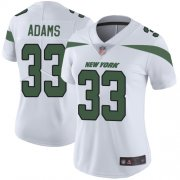Wholesale Cheap Nike Jets #33 Jamal Adams White Women's Stitched NFL Vapor Untouchable Limited Jersey