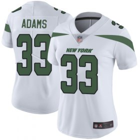Wholesale Cheap Nike Jets #33 Jamal Adams White Women\'s Stitched NFL Vapor Untouchable Limited Jersey