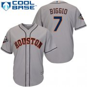 Wholesale Cheap Astros #7 Craig Biggio Grey Cool Base 2019 World Series Bound Stitched Youth MLB Jersey