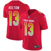 Wholesale Cheap Nike Colts #13 T.Y. Hilton Red Men's Stitched NFL Limited AFC 2018 Pro Bowl Jersey
