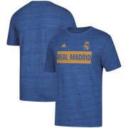 Wholesale Cheap Real Madrid adidas Bar None Tri-Blend T-Shirt Heathered Blue