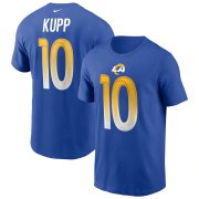Wholesale Cheap Los Angeles Rams #10 Cooper Kupp Nike Team Player Name & Number T-Shirt Royal