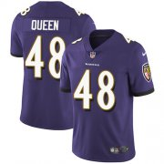 Wholesale Cheap Nike Ravens #48 Patrick Queen Purple Team Color Men's Stitched NFL Vapor Untouchable Limited Jersey