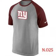 Wholesale Cheap Nike New York Giants Ash Tri Big Play Raglan NFL T-Shirt Grey/Red