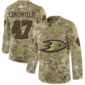 Wholesale Cheap Adidas Ducks #47 Hampus Lindholm Camo Authentic Stitched NHL Jersey