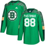 Wholesale Cheap Adidas Bruins #88 David Pastrnak adidas Green St. Patrick's Day Authentic Practice Stitched NHL Jersey