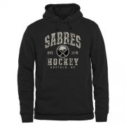 Wholesale Cheap Men's Buffalo Sabres Black Camo Stack Pullover Hoodie