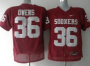 Wholesale Cheap Oklahoma Sooners #36 Owens Red Jersey