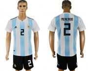 Wholesale Cheap Argentina #2 Mercado Home Soccer Country Jersey