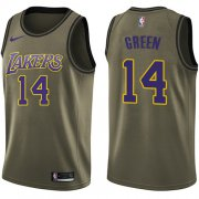 Wholesale Cheap Nike Lakers #14 Danny Green Green NBA Swingman Salute to Service Jersey