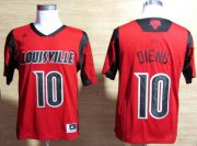 Wholesale Cheap Louisville Cardinals #10 Gorgui Dieng 2013 March Madness Red Jersey