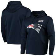 Wholesale Cheap New England Patriots Nike NFL 100 Primary Logo Circuit Performance Pullover Hoodie Navy
