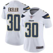 Wholesale Cheap Nike Chargers #30 Austin Ekeler White Women's Stitched NFL Vapor Untouchable Limited Jersey