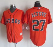 Wholesale Cheap Astros #27 Jose Altuve Orange New Cool Base Stitched MLB Jersey