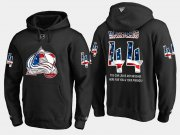 Wholesale Cheap Avalanche #44 Mark Barberio NHL Banner Wave Usa Flag Black Hoodie