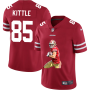 Wholesale Cheap San Francisco 49ers #85 George Kittle Men's Nike Player Signature Moves Vapor Limited NFL Jersey Red