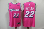 Wholesale Cheap Heat 22 Jimmy Butler Pink Earned Edition Nike Swingman Jersey