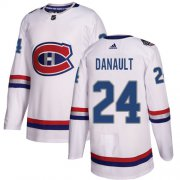 Wholesale Cheap Adidas Canadiens #24 Phillip Danault White Authentic 2017 100 Classic Stitched NHL Jersey