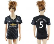 Wholesale Cheap Women's Manchester United #5 Marcos Rojo Away Soccer Club Jersey