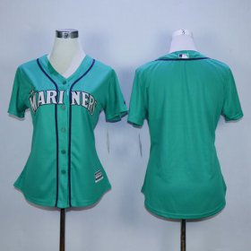 Wholesale Cheap Mariners Blank Green Alternate Women\'s Stitched MLB Jersey