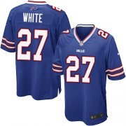 Wholesale Cheap Nike Bills #27 Tre'Davious White Royal Blue Team Color Youth Stitched NFL New Elite Jersey