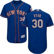 Wholesale Cheap Mets #30 Nolan Ryan Blue(Grey NO.) Flexbase Authentic Collection Stitched MLB Jersey