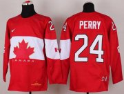 Wholesale Cheap Olympic 2014 CA. #24 Corey Perry Red Stitched NHL Jersey