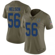 Wholesale Cheap Nike Colts #56 Quenton Nelson Olive Women's Stitched NFL Limited 2017 Salute to Service Jersey